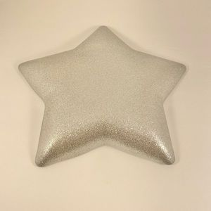 Other - 🆕 Silver Sparkle Star Glass Decorative Dish